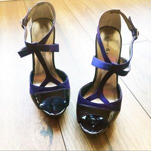 Purple Kelly & Katie T-Strap Stiletto